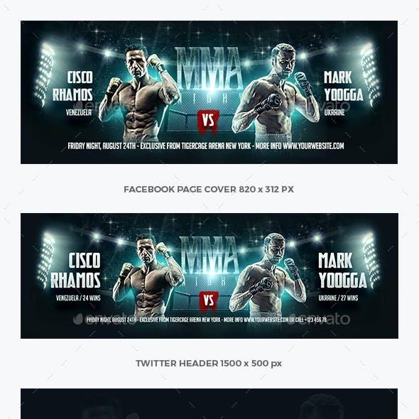MMA Boxing Social Media Template