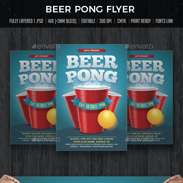 Beer Pong / Beer Party Flyer
