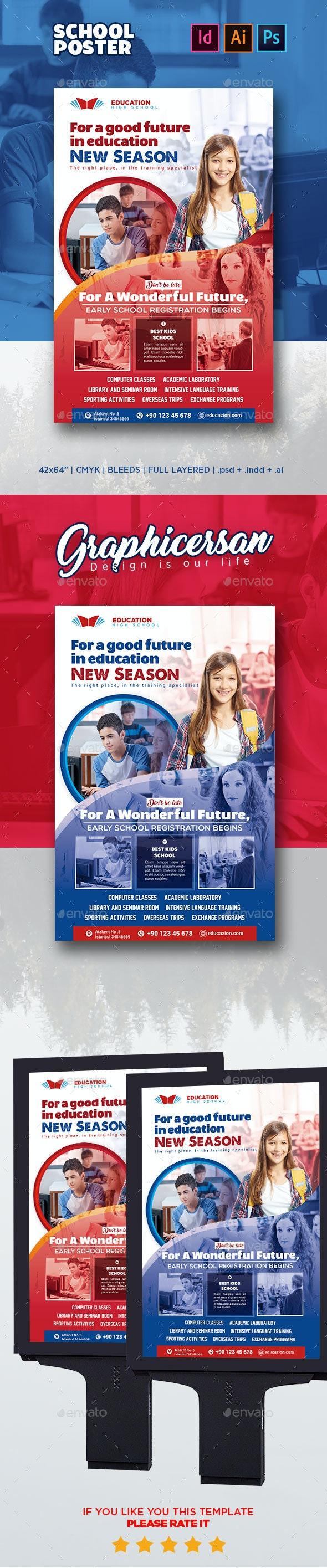 School Poster - Signage Print Templates