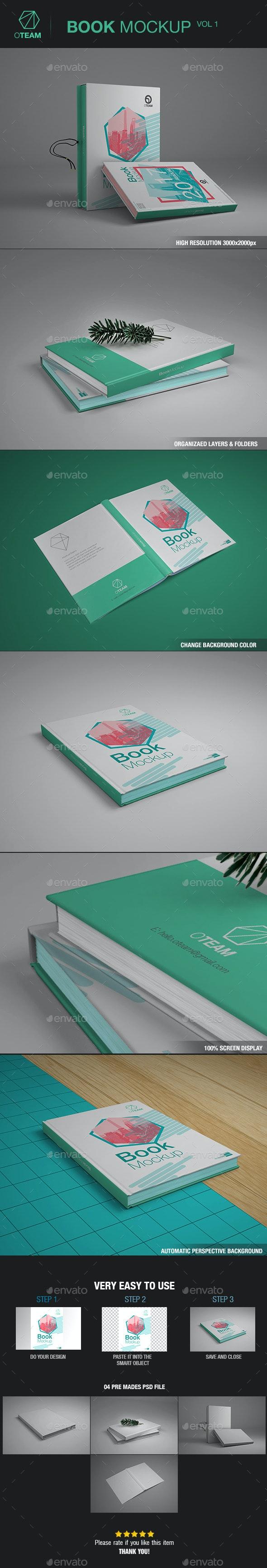 Books Mockup - Product Mock-Ups Graphics