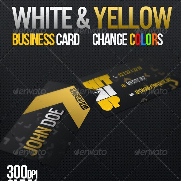White & Yellow Business Card