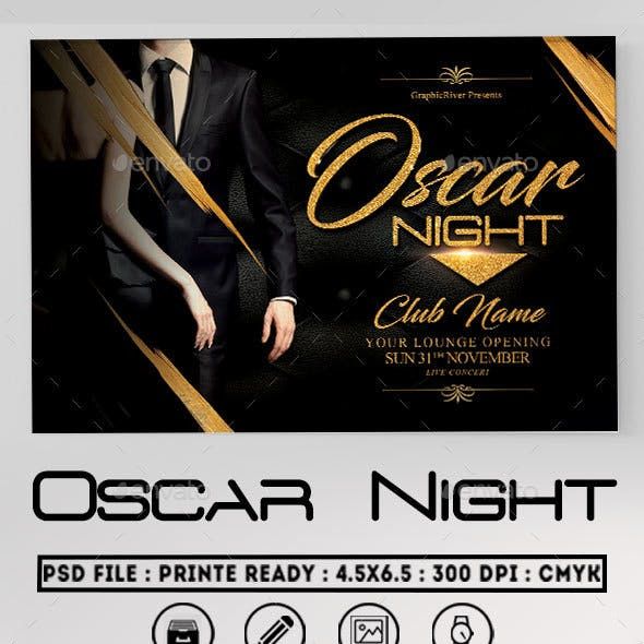 Oscar Night Flyer Template