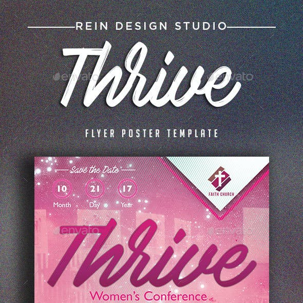 Thrive Womens Conference Church Flyer