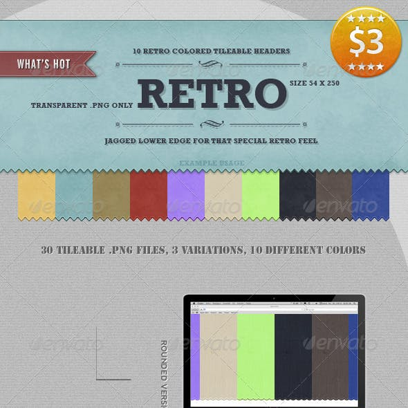 10 Tileable Retro Headers