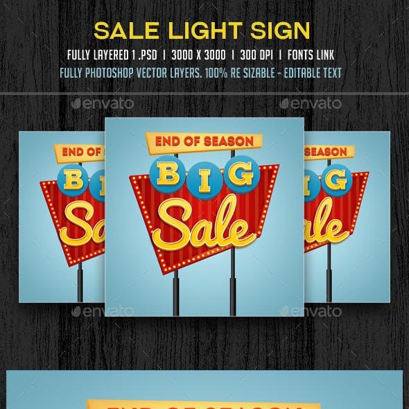 Sale Retro Sign