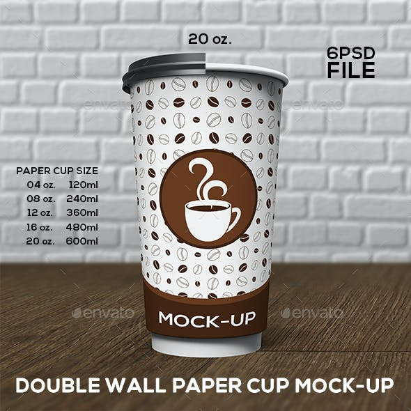Double Wall Paper Cup Mock-Up Set