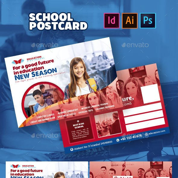 School Postcard Templates
