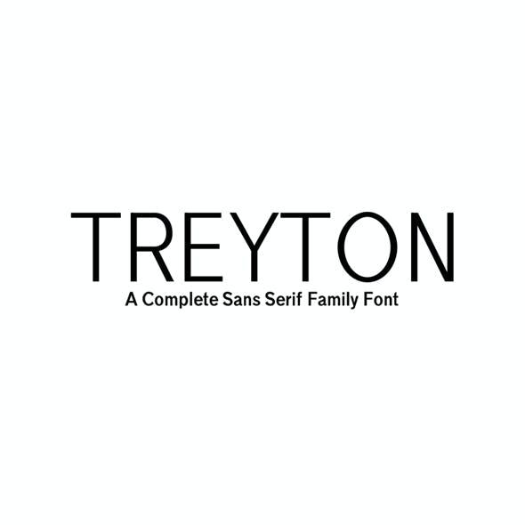 Treyton A Complete Sans Serif Font Family
