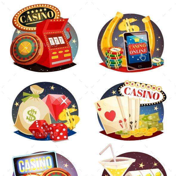 Casino Decorative Compositions Set