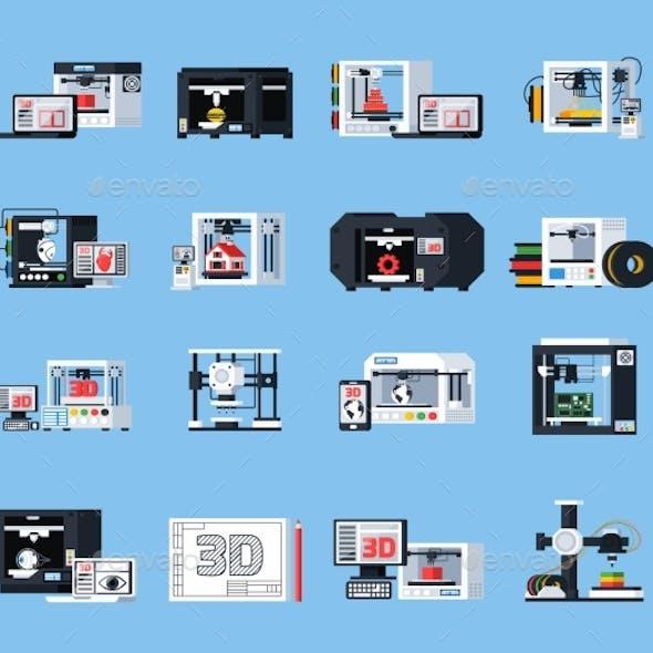 3D Printing Orthogonal Icons