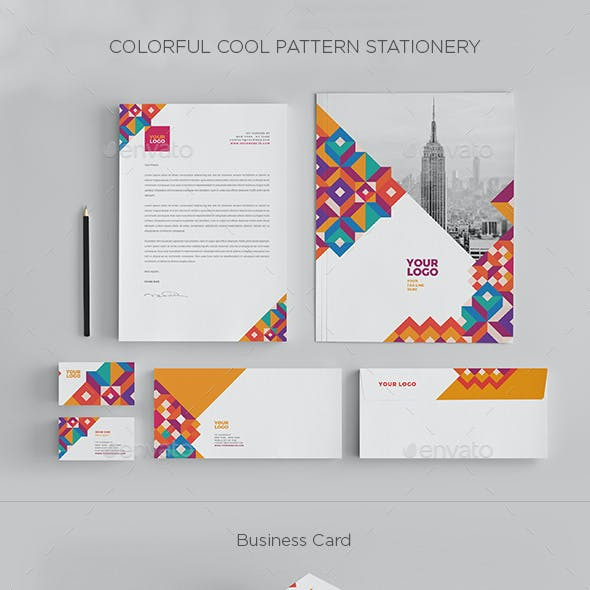 Colorful Cool Pattern Stationery