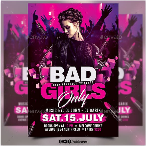 Bad Girls Only Flyer