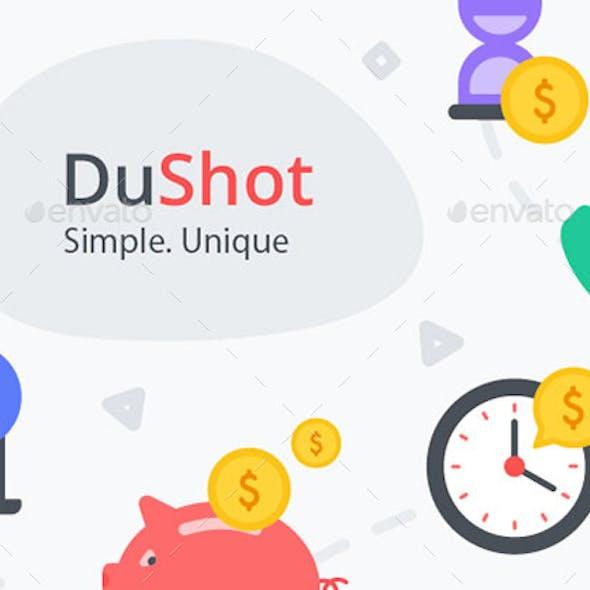 DuShot - Set of 100 Money related premium flat illustrations