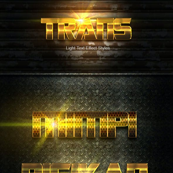Trans Gold Text Effect V05