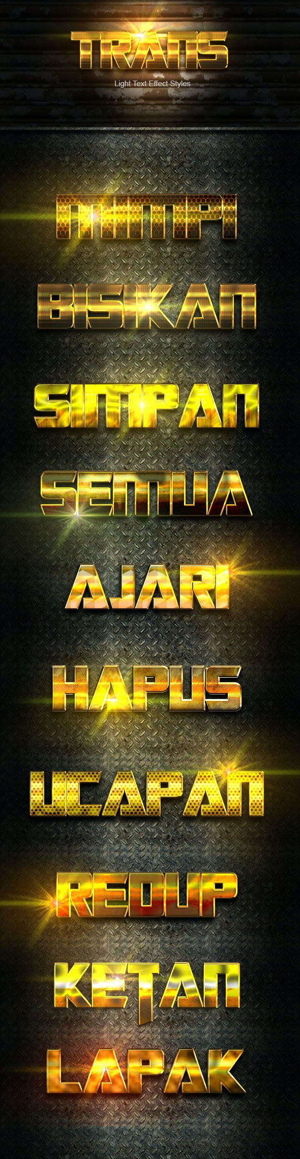 Trans Gold Text Effect V05 - Text Effects Actions