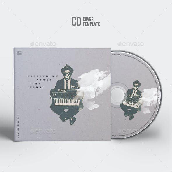 Everything About The Synth - Minimal CD Cover Artwork Template