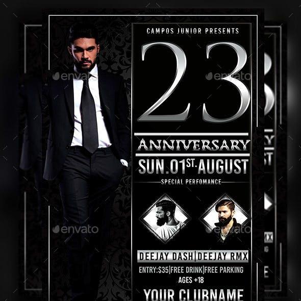 23 Anniversary-Flyer Template