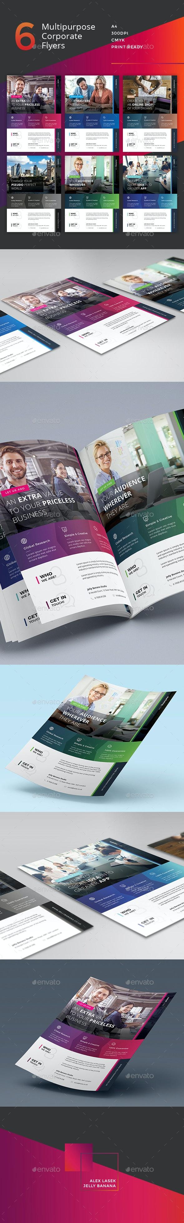 Corporate Flyer - 6 Multipurpose Business Templates vol 28 - Corporate Flyers