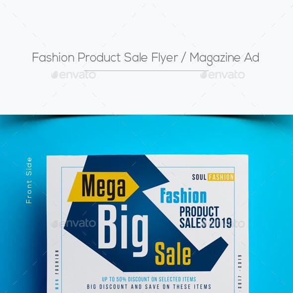 Fashion Product Sale Flyer / Magazine Ad