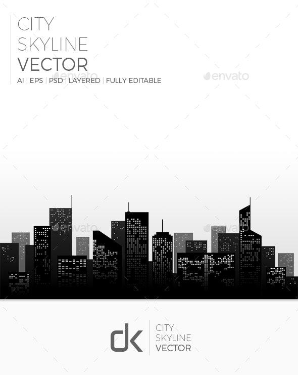 City Skyline - Buildings Objects