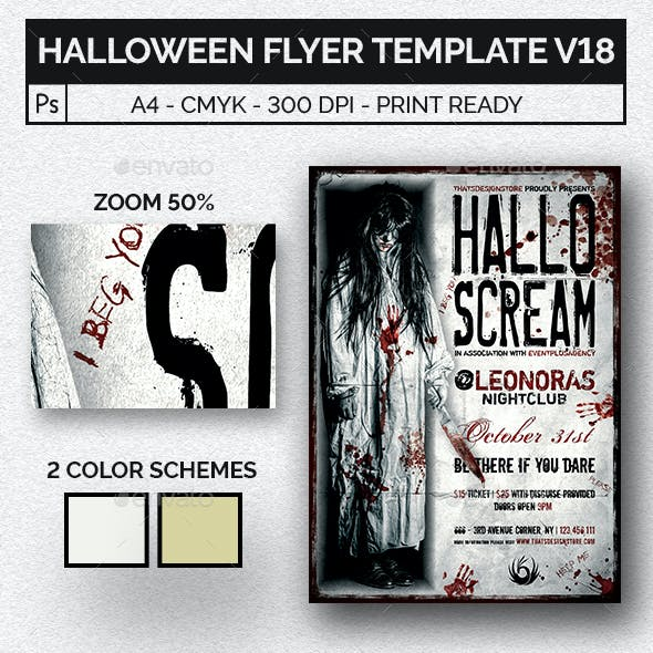 Halloween Flyer Template V18