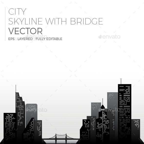 City Skyline with Bridge