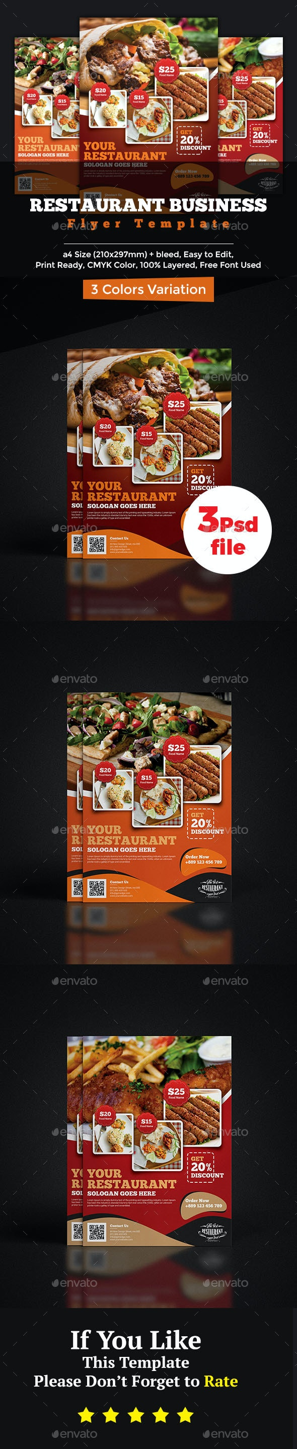 Restaurant Flyer - Flyers Print Templates
