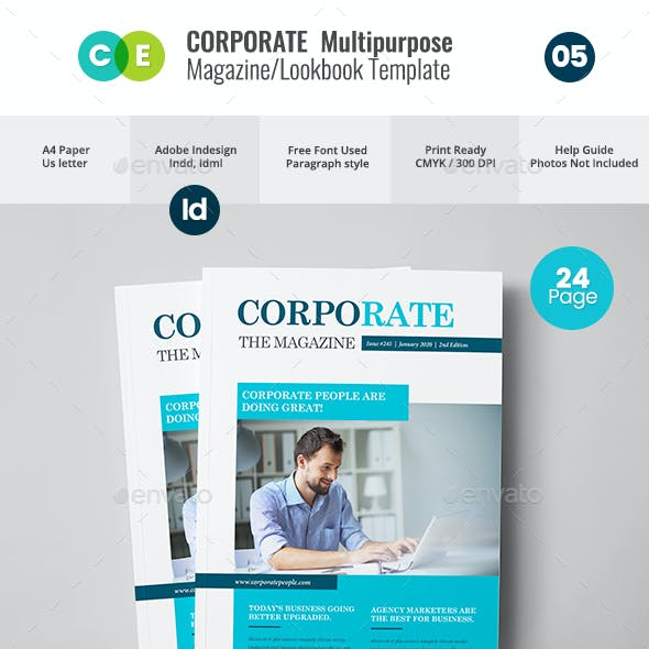 Corporate   Multipurpose Magazine Lookbook V05
