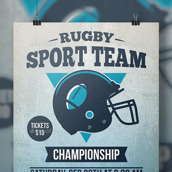 Rugby Tournament Flyer Template