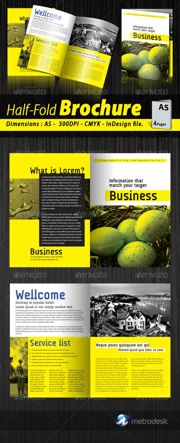 A5 Half-fold corporate brochure [4 pages] - Corporate Brochures