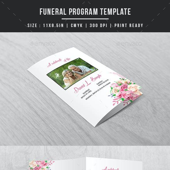 Funeral Program Template V03