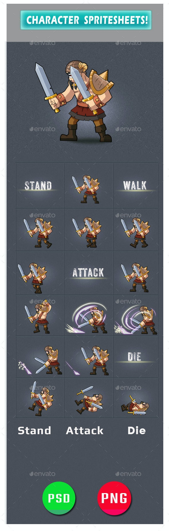 Enemy Game Assets - Sprites Game Assets