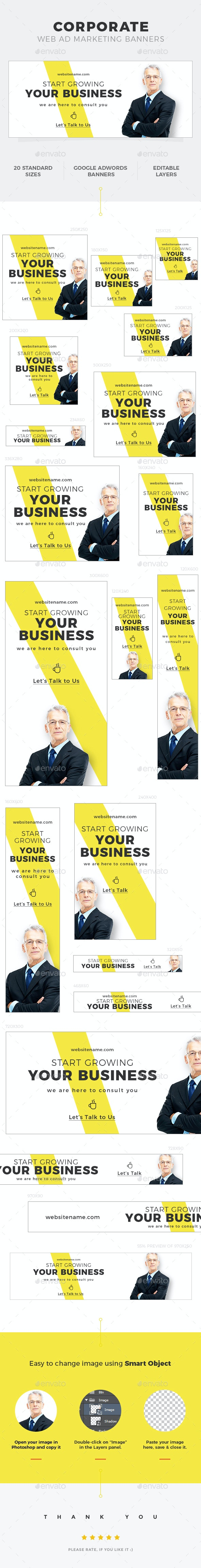 Corporate Web Ad Banners - Banners & Ads Web Elements