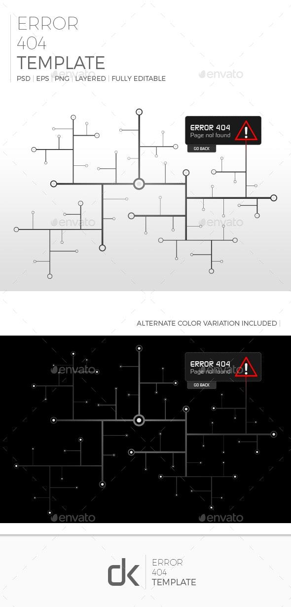 Error 404 Template - 404 Pages Web Elements