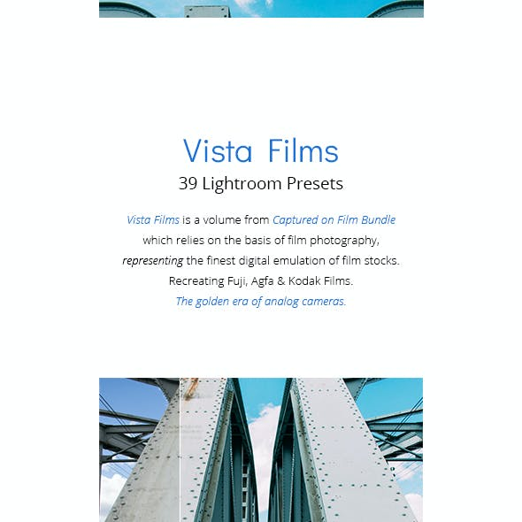 39 Vista Films - Lightroom Presets