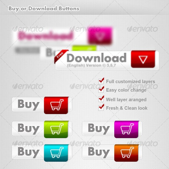 Clean Buy & Download buttons