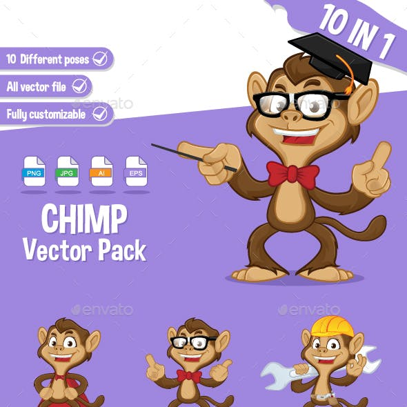 Chimp Vector Pack