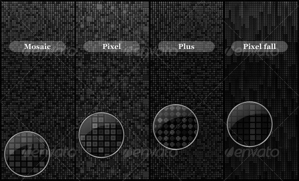 Pixel background Set 1 - Backgrounds Graphics