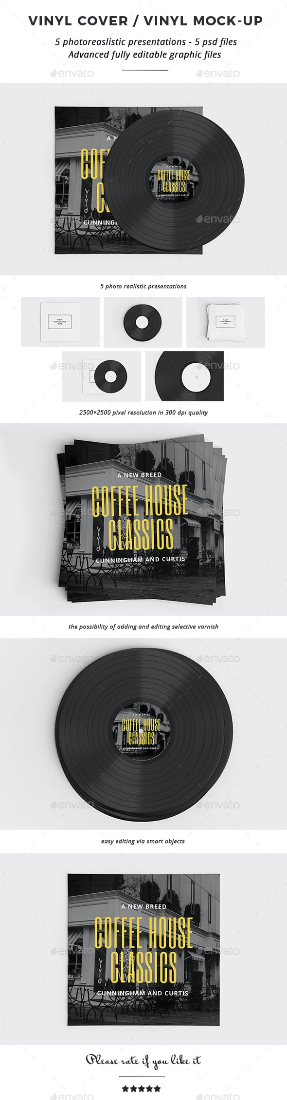 Vinyl Cover / Vinyl Mock-up - Discs Packaging