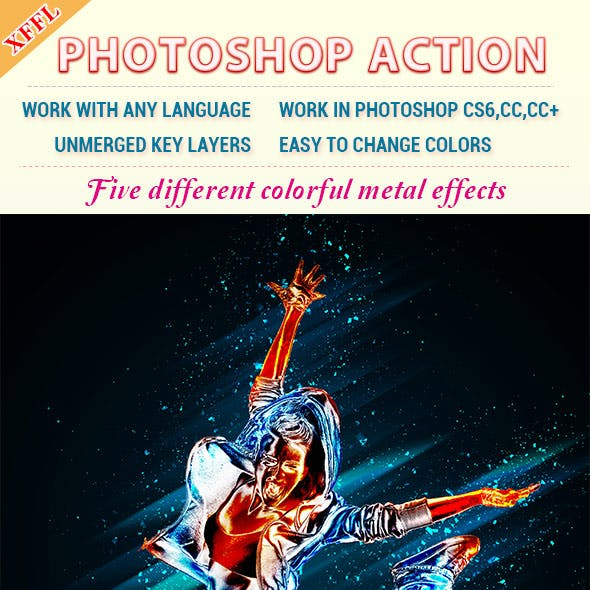 Colorful Metal Effect Photoshop Action