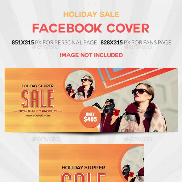 Holiday Sale Facebook Cover
