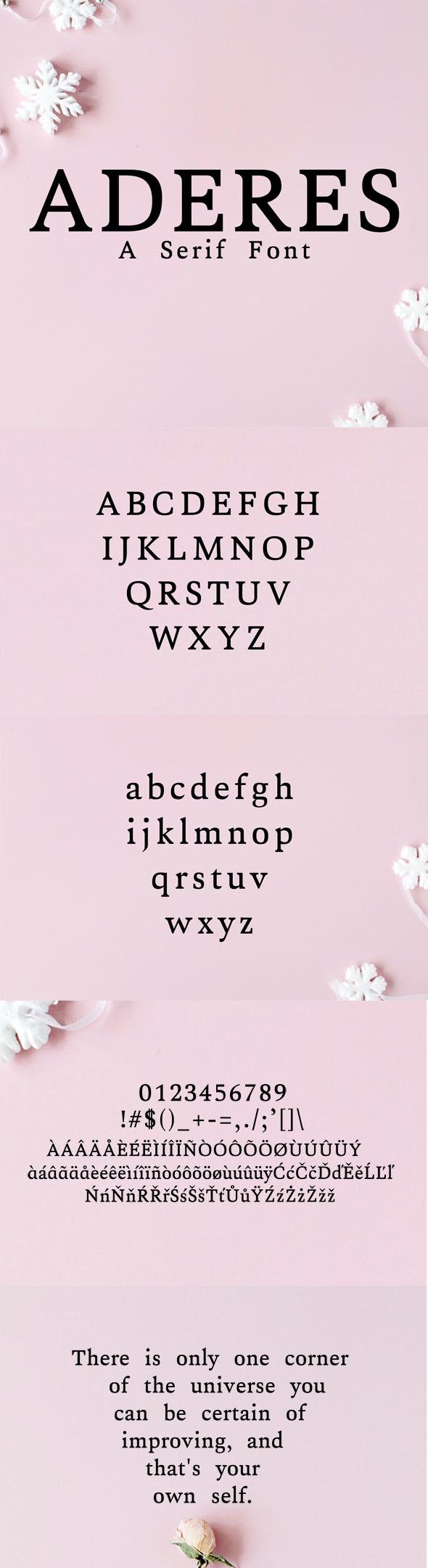 Aderes Serif Font Family - Serif Fonts
