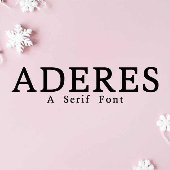 Aderes Serif Font Family