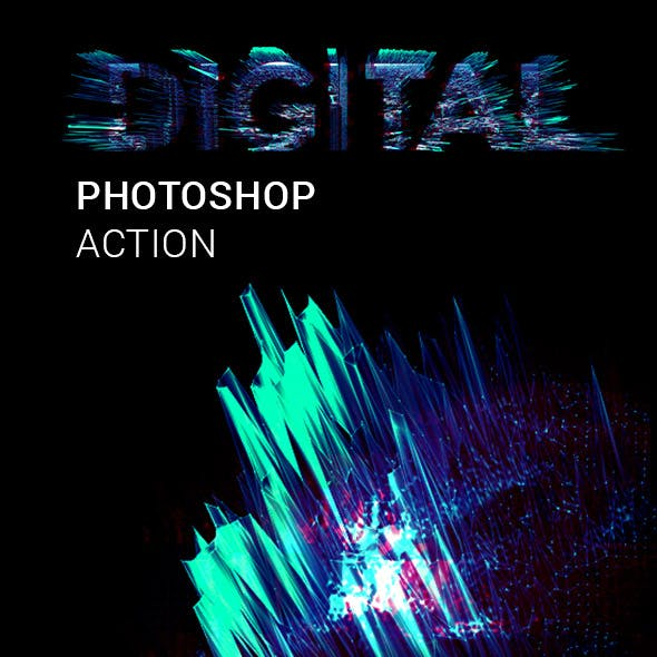 Digitalize me Photoshop Action