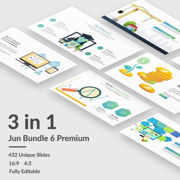 Jun 6 Premium  - 3 in 1 Bundle Multiperpose Powerpoint Template