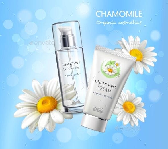Cosmetics Products Realistic Advertisement Poster - Health/Medicine Conceptual