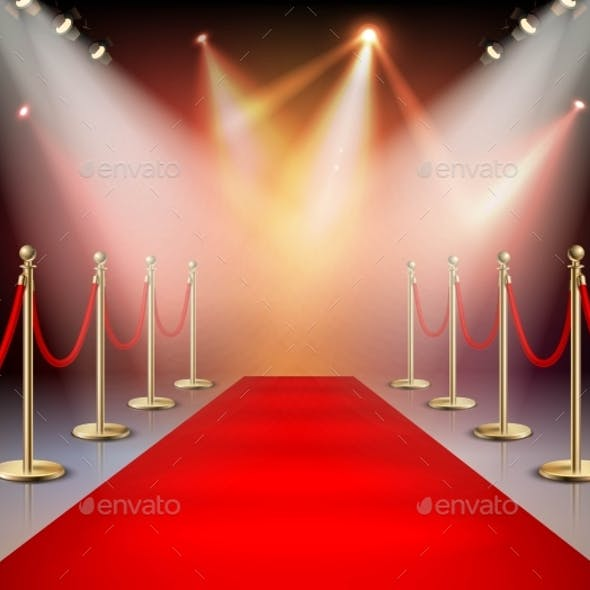 Red Carpet In Illumination Composition