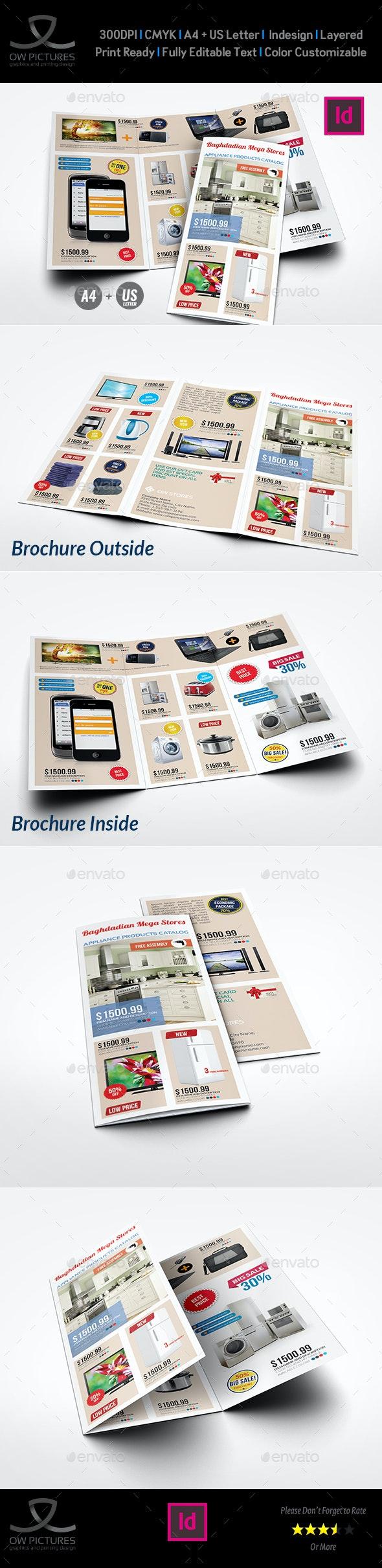 Products Catalogs Tri-Fold Brochure Template  Vol.1 - Catalogs Brochures