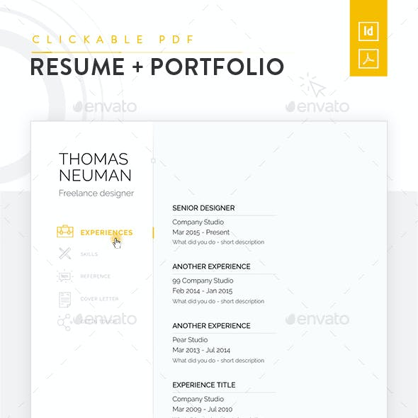 Clickable Resume with Portfolio Presentation