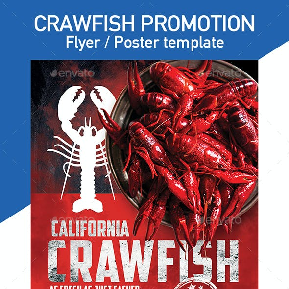 Crawfish Flyer/ Poster Template